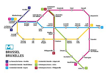 Le plan du futur métro bruxellois