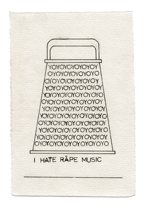 I hate râpe music