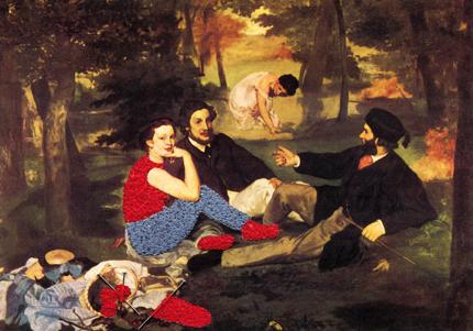 Les nus rhabillés (Edouard Manet, Le déjeuner sur l'herbe, 1863)